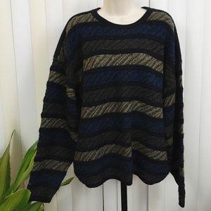 Vintage 90s Knit Striped Oversized Sweater